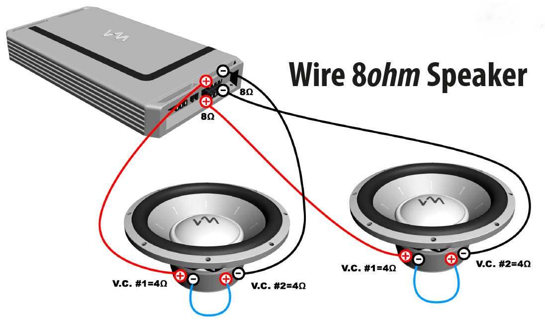 How to Wire 8ohm Speaker?